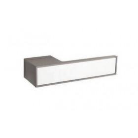 Дверная ручка TUPAI BIG 3084RT Титан, вставка BM белая матовая