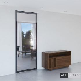Скрытая дверь ALUDOORS Clear со стеклом Diamant