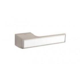 Дверная ручка TUPAI MELODY Vario 3089RT Матовый никель, вставка BM белая матовая