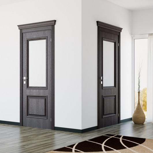 Дверь RODOS Royal Avalon шпон полустекло