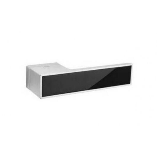 Дверная ручка TUPAI BIG 3084RT Матовый хром, вставка CP черная блестящая