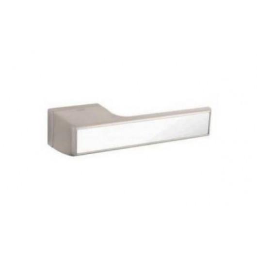 Дверная ручка TUPAI MELODY Vario 3089RT Матовый никель, вставка BP белая блестящая