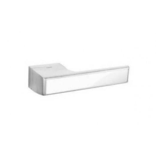 Дверная ручка TUPAI MELODY Vario 3089RT Матовый хром, вставка BP белая блестящая