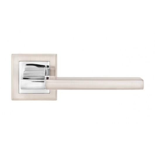Дверная ручка LINDE Furnitura QOOB Матовый никель/полированный хром