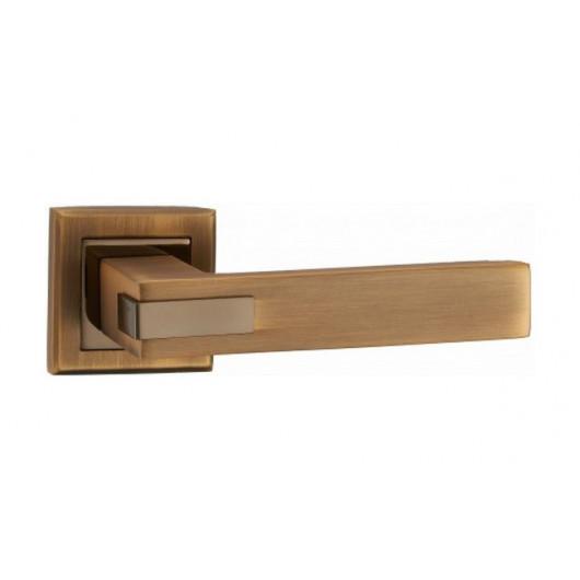 Дверная ручка MVM Furniture QOOB Матовая бронза/полированная бронза