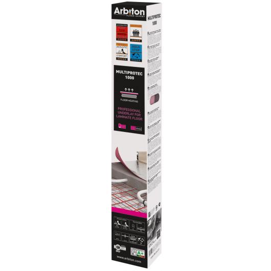Подложка Arbiton Optima Expert Aquastop 2 мм XPS + пароизоляция + скотч