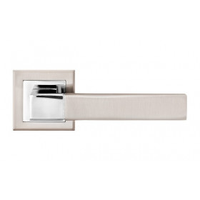 Дверная ручка LINDE Furnitura Grotti Матовый никель/полированный хром