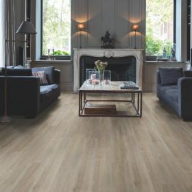Виниловый пол Quick-Step Balance Rigid Click RBACL40053 Дуб Шелковый Серо-коричневый