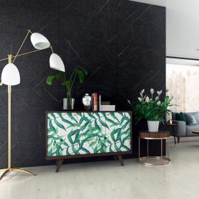 Стеновая панель Walldesign Marmo D4878 Black Fossil