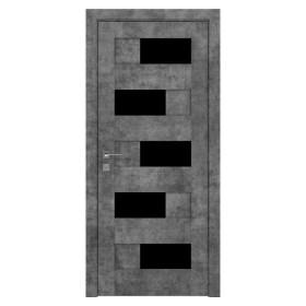 Дверь RODOS Modern Verona BLK New полустекло