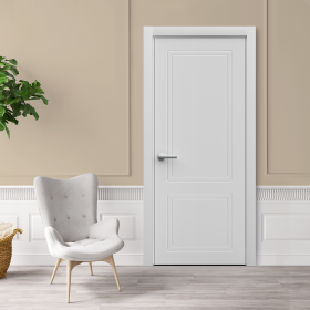 Дверь Sensa New Classic 01 с фрезеровкой белый мат