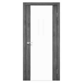 Дверь KORFAD Sanremo SR-01 с белым стеклом