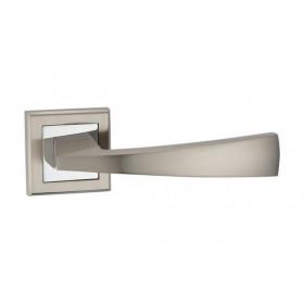 Дверная ручка MVM Furniture Frio Матовый никель/полированный хром