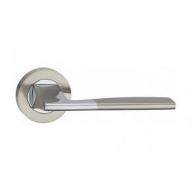 Дверная ручка MVM Furniture Z-1220 Матовый никель/полированный хром