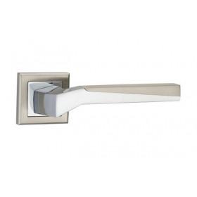 Дверная ручка MVM Furniture Neo Матовый никель/полированный хром