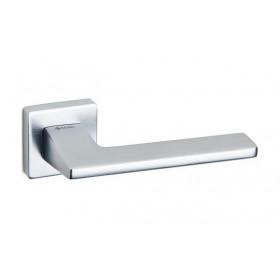 Дверная ручка SYSTEM ZETTA Брашированный матовый хром
