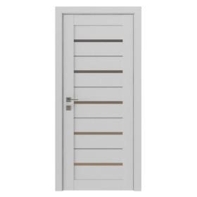 Дверь RODOS Modern Lazio полустекло белый мат