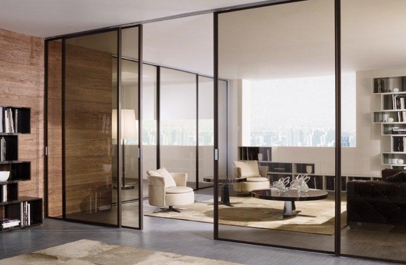 стеклянные двери для квартиры