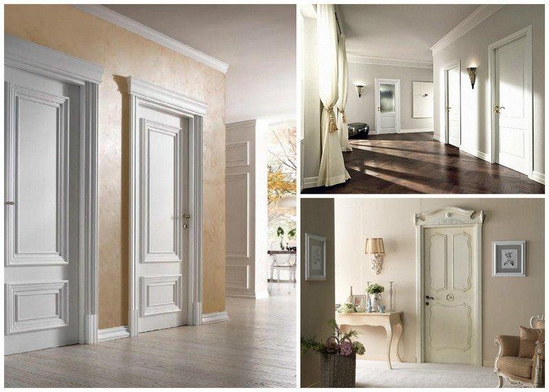 белые крашеные двери