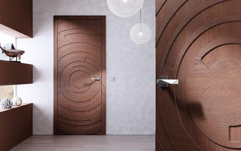Дизайнерские двери из массива